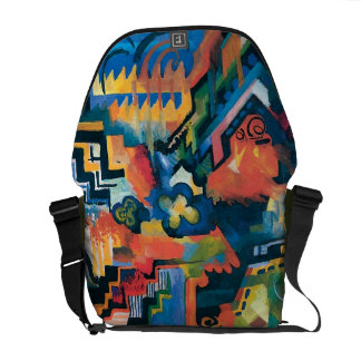 Auguste Macke - Homage To Bach Abstract Modern Art Courier Bag