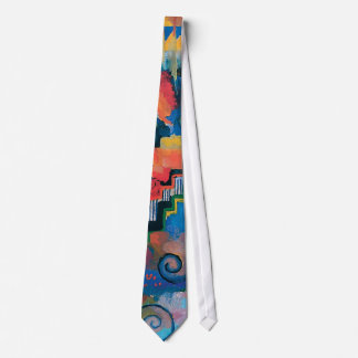 Auguste Macke - Homage To Bach Abstract Modern Art Neck Tie