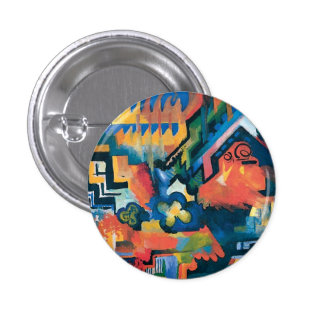 Auguste Macke - Homage To Bach Abstract Modern Art Pinback Button