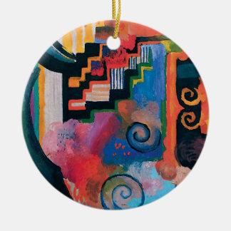 Auguste Macke - Homage to Johann Sebastian Bach Ceramic Ornament