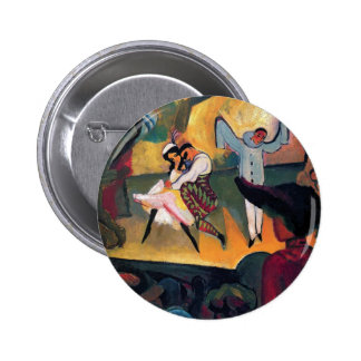 Auguste Macke - Russian Ballet Dancers on Stage Button