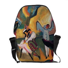 Auguste Macke - Russian Ballet Dancers on Stage Courier Bag