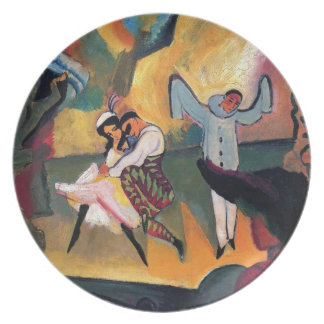 Auguste Macke - Russian Ballet Dancers on Stage Melamine Plate
