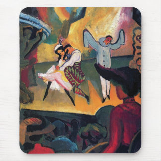 Auguste Macke - Russian Ballet Dancers on Stage Mouse Pad