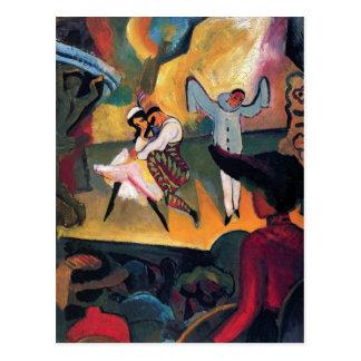 Auguste Macke - Russian Ballet Dancers on Stage Postcard