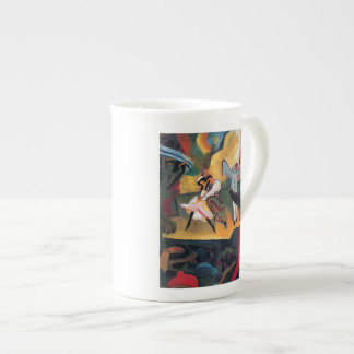 Auguste Macke - Russian Ballet Dancers on Stage Tea Cup