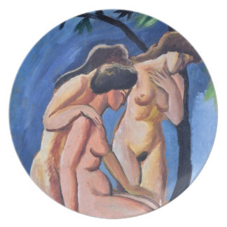 Auguste Macke Three Acts Plate