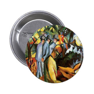 Auguste Macke - Zoological Garden Animal Lover Button