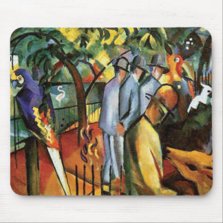 Auguste Macke - Zoological Garden Animal Lover Mouse Pad