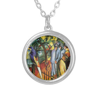 Auguste Macke - Zoological Garden Round Pendant Necklace