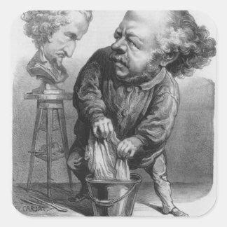 Auguste Preault (1809-79), caricatura de 'Le Bou Pegatina Cuadrada