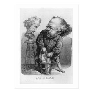 Auguste Preault (1809-79), caricatura de 'Le Bou Postales