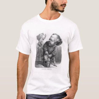 Auguste Preault (1809-79), caricature from 'Le Bou T-Shirt