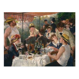 Auguste Renoir - alumerzo del fiesta del canotaje Tarjeta Postal