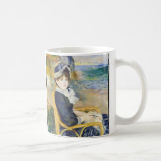 Auguste Renoir By The Seashore Art Coffee Mug