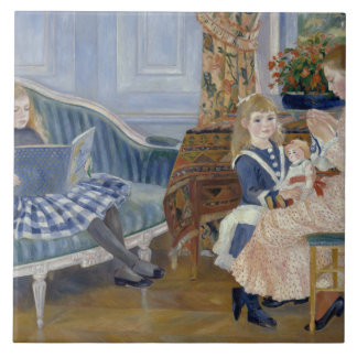 Auguste Renoir - Children's Afternoon at Wargemont Ceramic Tile