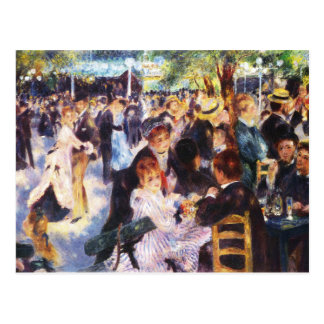 Auguste Renoir - Dance at Le moulin de la Galette Postcard