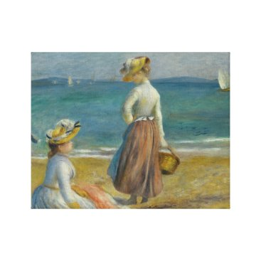 Beach Themed Auguste Renoir - Figures on the Beach Canvas Print