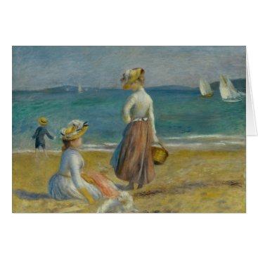 Beach Themed Auguste Renoir - Figures on the Beach Card