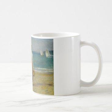 Beach Themed Auguste Renoir - Figures on the Beach Coffee Mug