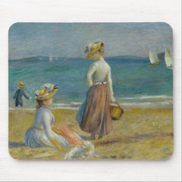 Beach Themed Auguste Renoir - Figures on the Beach Mouse Pad