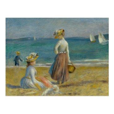 Beach Themed Auguste Renoir - Figures on the Beach Postcard
