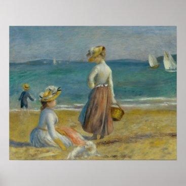 Beach Themed Auguste Renoir - Figures on the Beach Poster