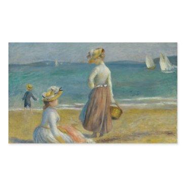 Beach Themed Auguste Renoir - Figures on the Beach Rectangular Sticker