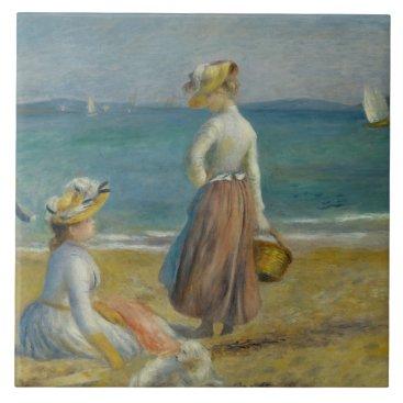 Beach Themed Auguste Renoir - Figures on the Beach Tile