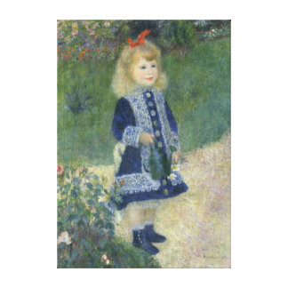 Auguste Renoir Girl With A Watering Can Fine Art Canvas Print