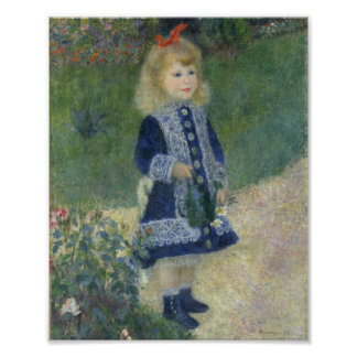 Auguste Renoir Girl With A Watering Can Fine Art Poster