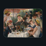 """Auguste Renoir - Luncheon of the Boating Party Magnet<br><div class=""""desc"""">Luncheon of the Boating Party by Auguste Renoir, 1880-1881. Auguste Renoir was a French artist who was a leading painter in the development of the Impressionist style. As a celebrator of beauty, and especially feminine sensuality, it has been said that &quot;Renoir is the final representative of a tradition which runs...</div>"""