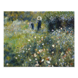 Auguste Renoir - mujer con un parasol en un jardín Fotografía