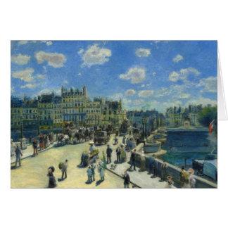 Auguste Renoir - Pont Neuf, Paris Card
