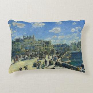 Auguste Renoir - Pont Neuf, Paris Decorative Pillow
