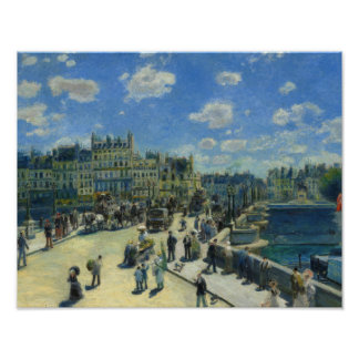 Auguste Renoir - Pont Neuf, Paris Poster