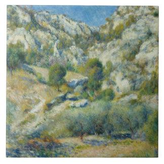 Auguste Renoir - Rocky Crags at L'Estaque Ceramic Tile