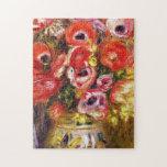 "Auguste Renoir - Vase Of Tulips And Anemones Jigsaw Puzzle<br><div class=""desc"">Auguste Renoir - Vase Of Tulips And Anemones</div>"