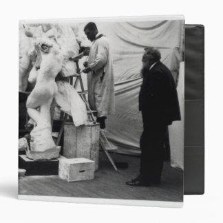 Auguste Rodin  in his Paris studio Binder