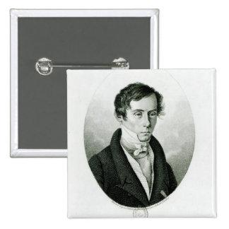 Augustin Jean Fresnel  1825 2 Inch Square Button