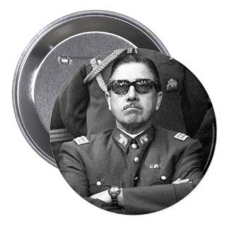 Augusto Pinochet Pin Redondo De 3 Pulgadas