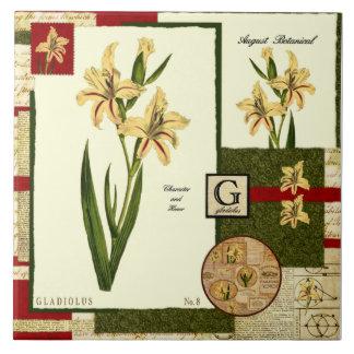 August's Flower Ceramic Tile