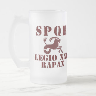 Augustus 21st Capricorn Roman Legion Frosted Glass Frosted Glass Beer Mug