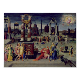 Augustus and the Tiburtine Sibyl Poster