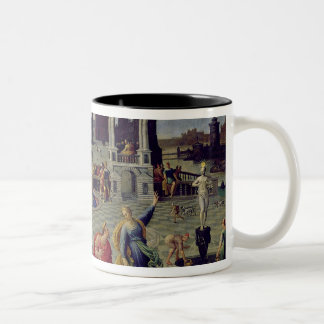 Augustus and the Tiburtine Sibyl Two-Tone Coffee Mug