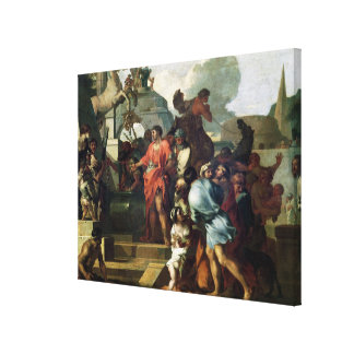 Augustus  before the Tomb of Alexander III Canvas Print