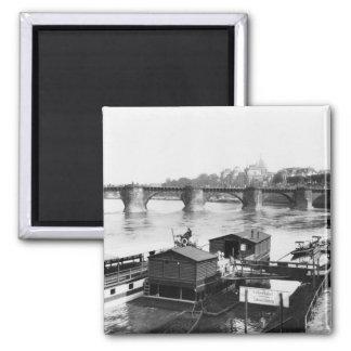 Augustus Bridge, Dresden, c.1910 2 Inch Square Magnet