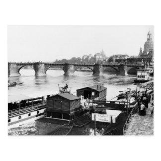 Augustus Bridge, Dresden, c.1910 Postcard