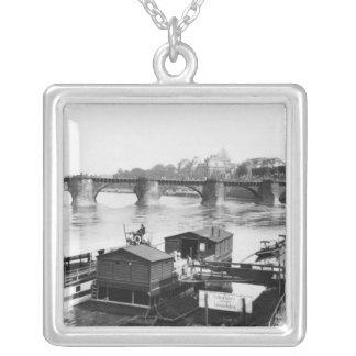 Augustus Bridge, Dresden, c.1910 Silver Plated Necklace