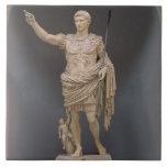 Augustus de Prima Porta, c.20 A.C. (mármol) Azulejo Cuadrado Grande